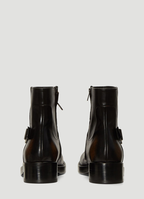 Raf Simons Boots Buckle Ankle Boots