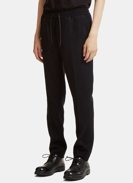 Central Pleat Wool Track Pants