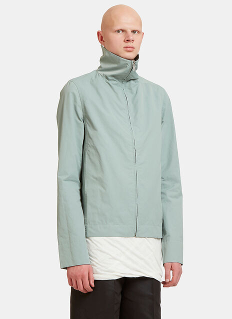 Zip-Up High Stand Collared Jacket
