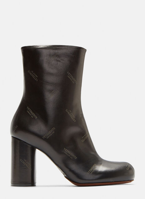 Vetements Logo Ankle Boots