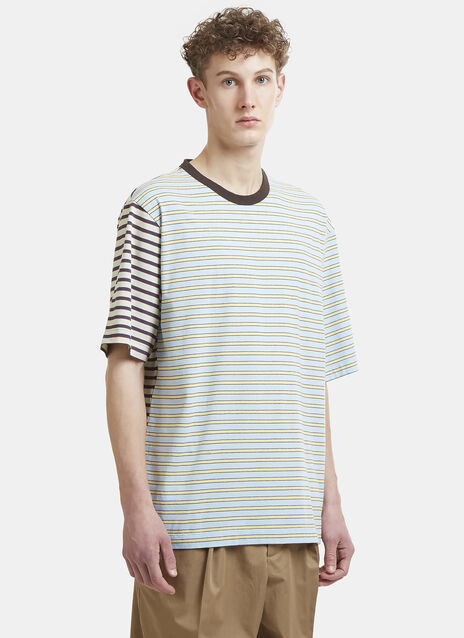 Marni Striped Patchwork T-Shirt