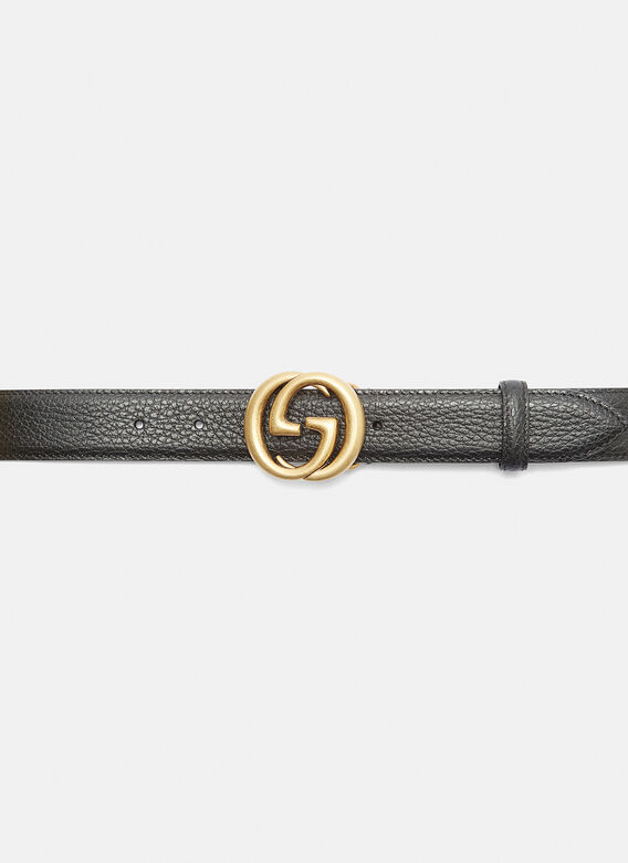 aa08efbe0cd Gucci New GG Belt in Blck and Gold