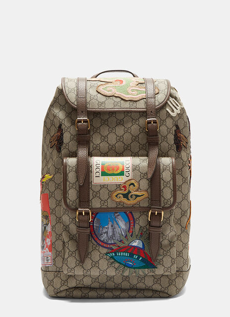 Gucci Courier GG Supreme Backpack