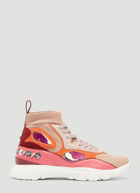 Valentino Embroidered High-Top Sneaker