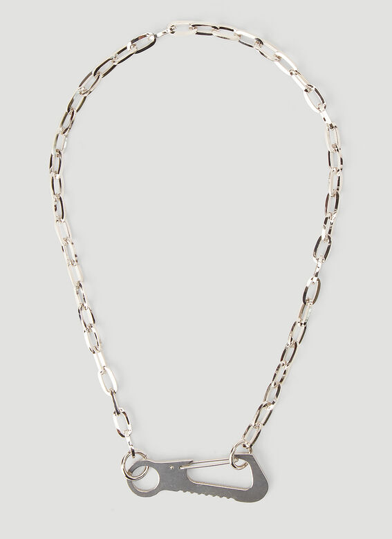 In Gold We Trust Carabiner Necklace 3