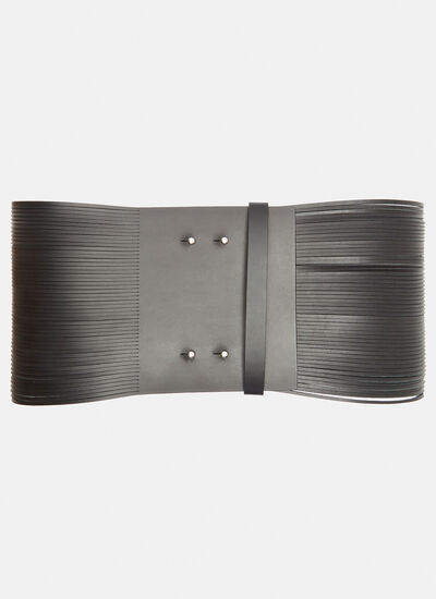 Maison Margiela Wide Fringed Leather Waist Belt