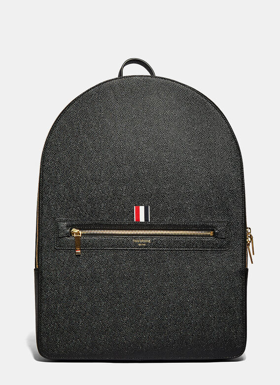 2c18f24896a Thom Browne. Men's Large Pebble Grained Backpack in Black