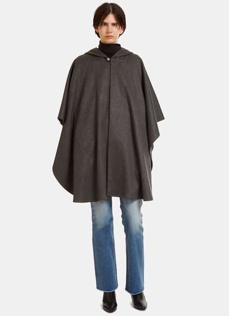 Oversized Felted Wool Cape
