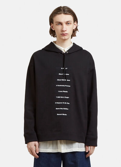 Raf Simons Hooded Slogan Sweatshirt