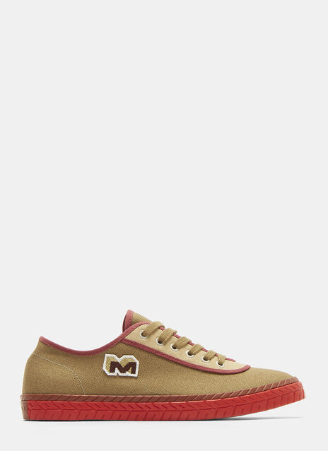 Marni Low Top Canvas Sneakers