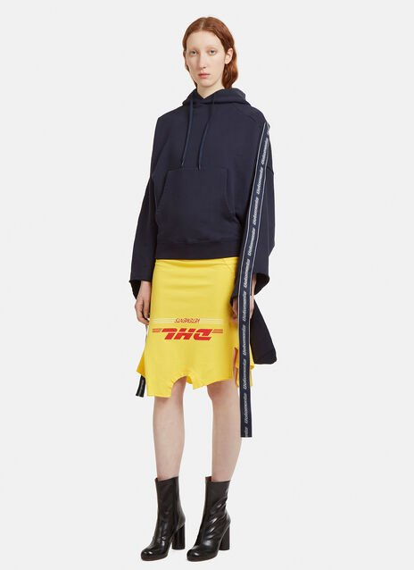 Vetements Tape Deconstructed Hooded Sweatshirt