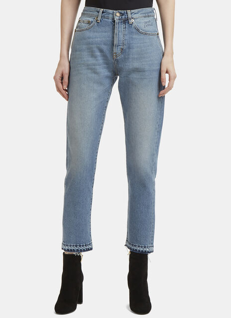 Saint Laurent Slim-fit Cropped Jeans