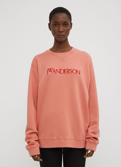 JW Anderson Embroidered Logo Crew Neck Sweatshirt