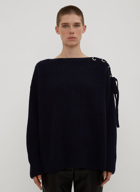 Stella McCartney Lace-Up Knit Sweater