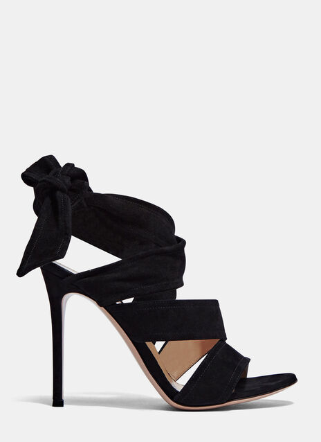 Gianvito Rossi Suede Wrap Heeled Sandals