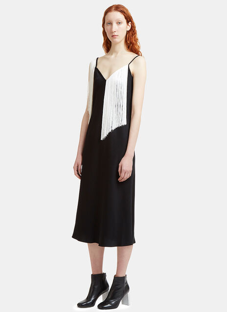 Ellery Fandango Fringed Slip Dress