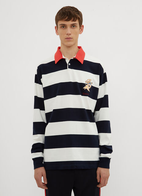 Gucci Piggy Striped Rugby Top