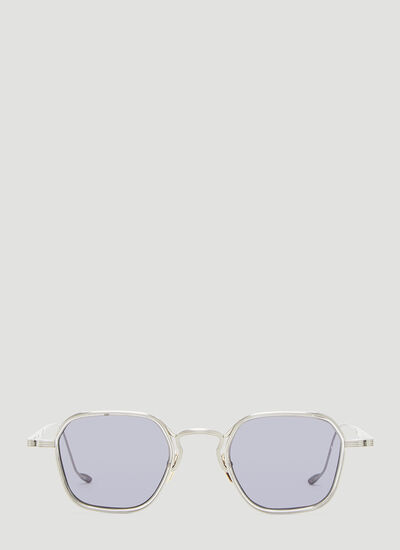 Jacques Marie Mage Round Frame Quatro Sterling Sunglasses