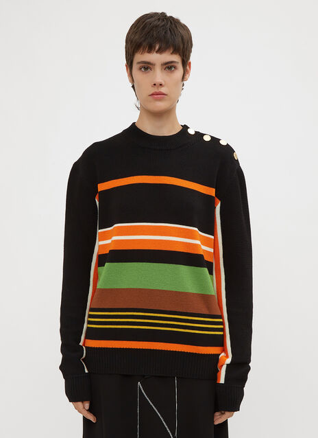 JW Anderson Striped Crew Neck Sweater