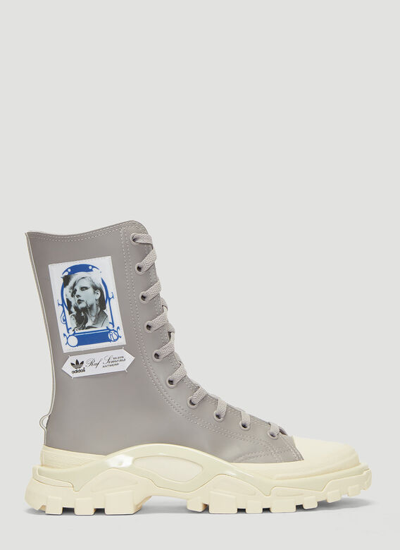 online store 8a1ad c11e0 Adidas By Raf Simons. Detroit Boot Sneakers in Grey