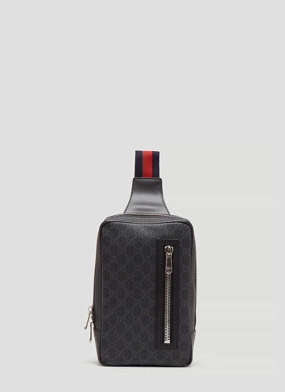 c5ccd49391eb1b Gucci GG Supreme Web Belt Cross Body Bag in Black | LN-CC