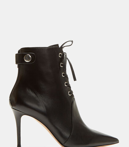 Ric Lace-Up Stiletto Ankle Boots