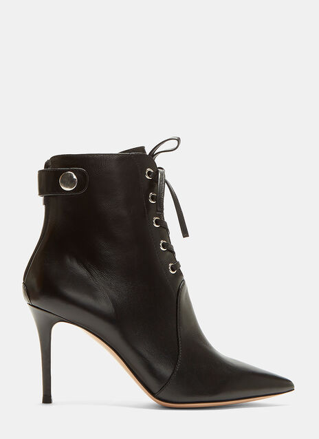Gianvito Rossi Ric Lace-Up Stiletto Ankle Boots
