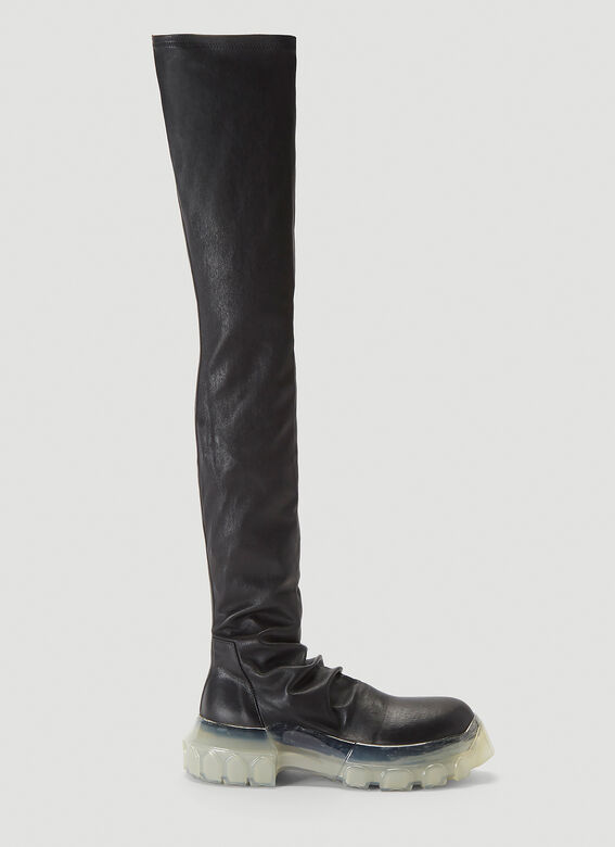 Rick Owens Tractor Stocking Boots in Black
