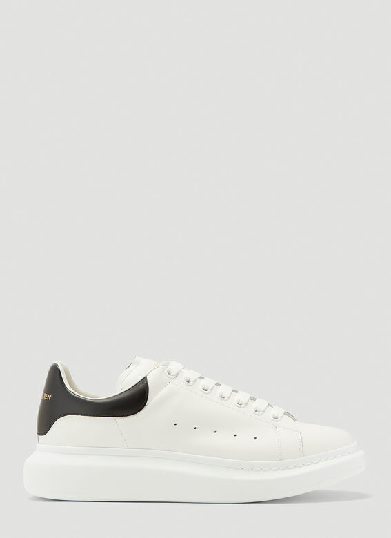 Alexander McQueen LARRY/LARRY LEATHER UPPER AND RU WHITE/BLACK 1
