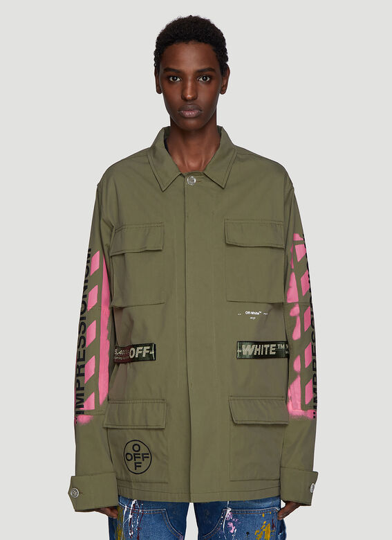 e959a17ea Off-White Military Field Jacket in Green | LN-CC