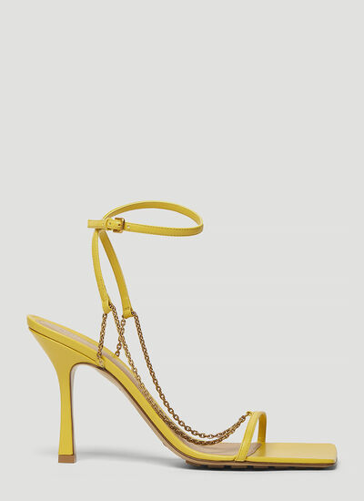 Bottega Veneta Chain-Strap Heeled Sandals