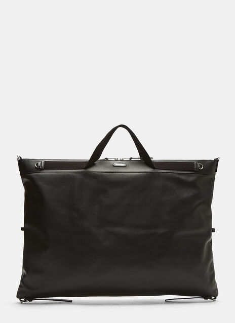 Large ID Convertible Leather Bag