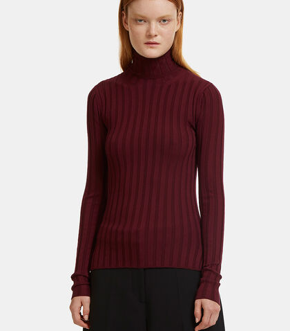 Corina Ribbed Roll Neck Sweater