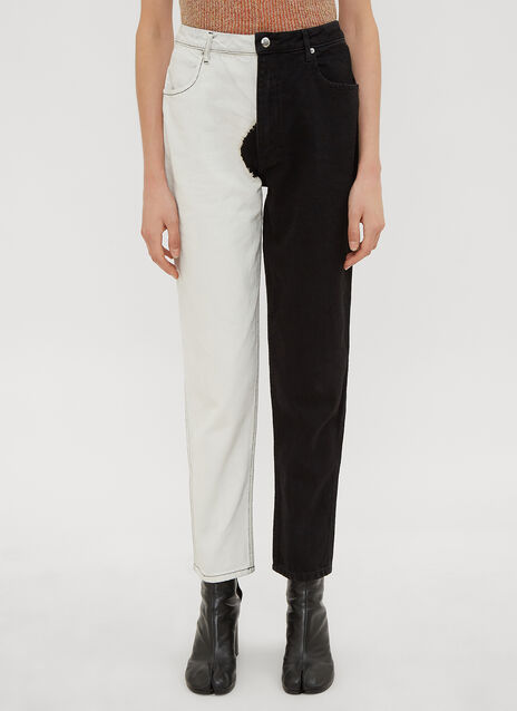 Eckhaus Latta Two-Tone Jeans