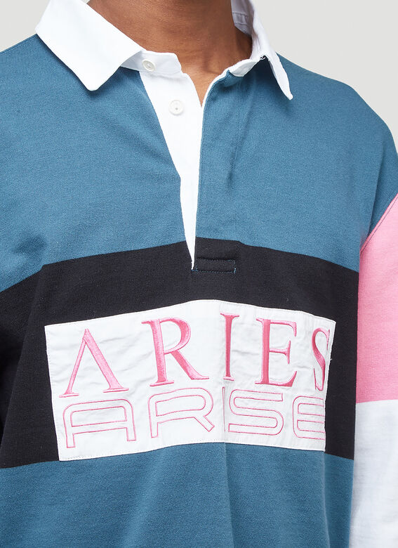 Aries Colour-Blocked Rugby Shirt 5