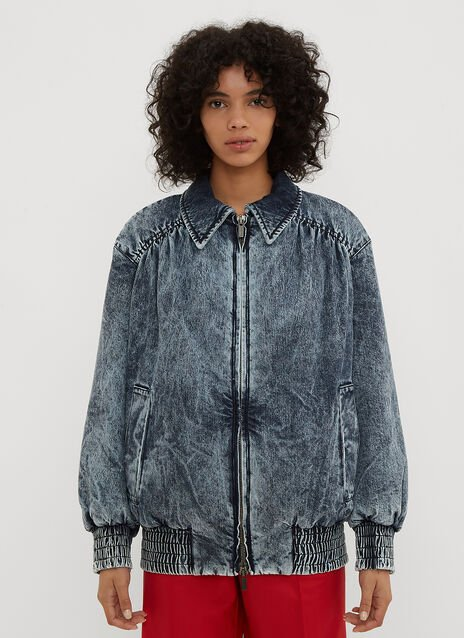 Miu Miu Stonewashed Denim Jacket