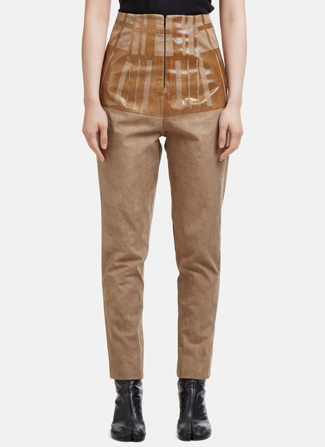 Capara Tapered Cotton Pants 9