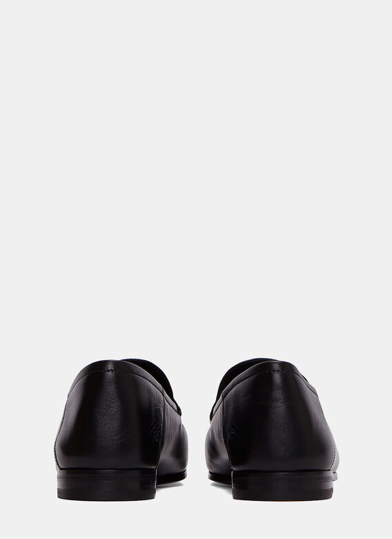 Gucci Snake Embroidered Horsebit Loafers