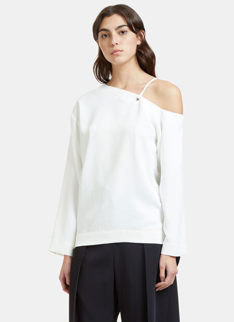 Oversized Dropped Sleeve Laced Top