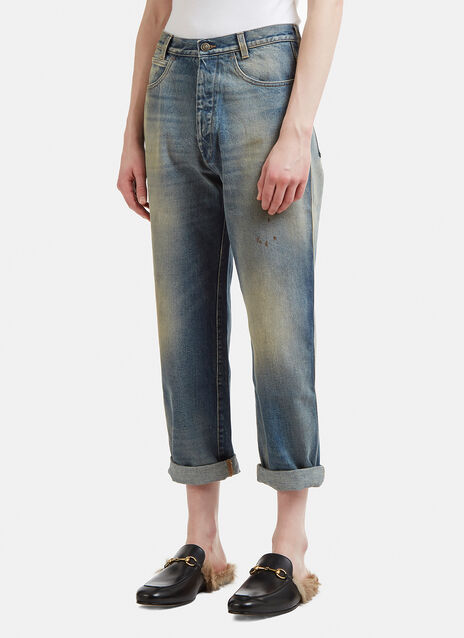 Gucci Tapered Denim Jeans