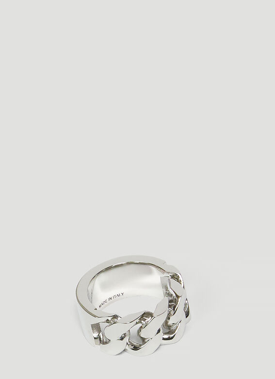 Alexander McQueen SNAKE AND TAG RING 2