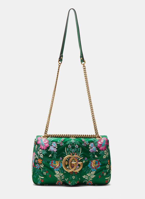 8647ad42b28 Gucci GG Marmont Medium Floral Jacquard Shoulder Bag