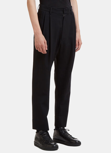 Tapered Wool Pleat Pants