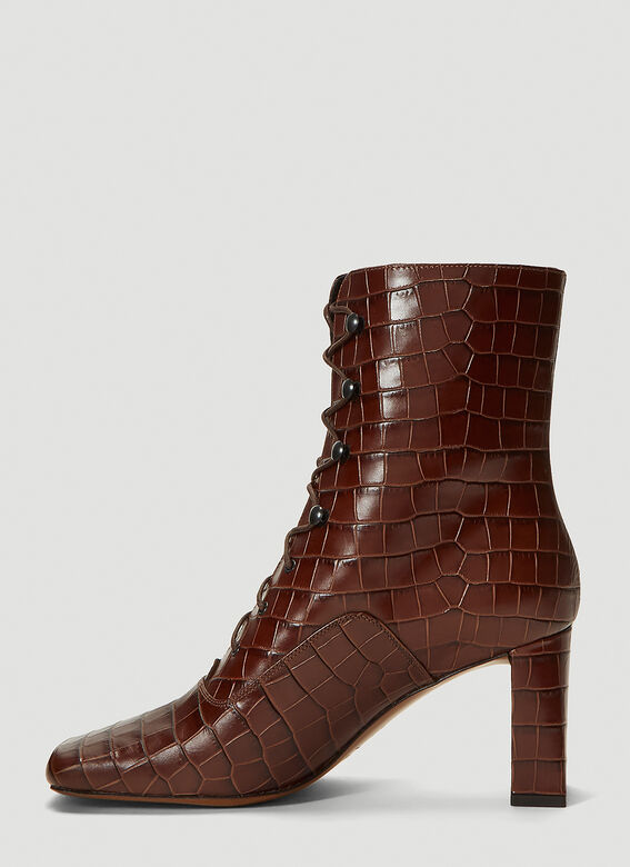 BY FAR Claude Embossed-Leather Boots 3