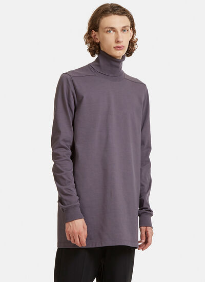 Rick Owens Long Ribbed Roll Neck Sweater