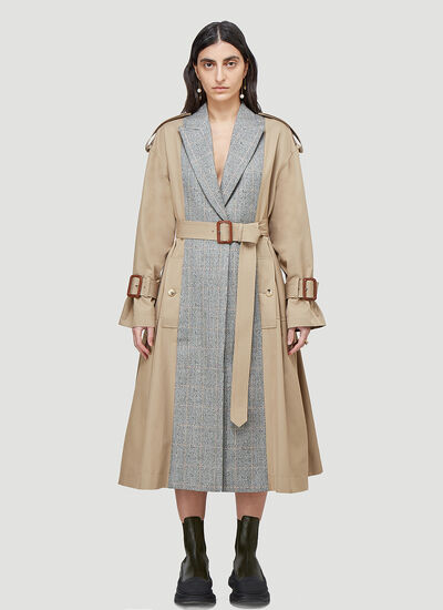 Alexander McQueen Panelled Trench Coat