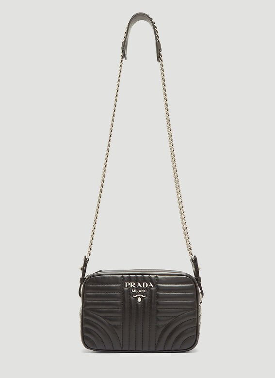 b8c92e33314f97 Prada Diagramme Leather Cross-Body Bag in Black | LN-CC