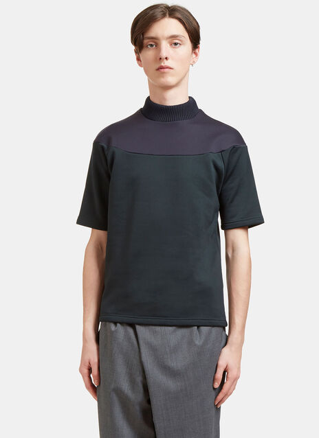Contrast Panel Thick Jersey T-Shirt