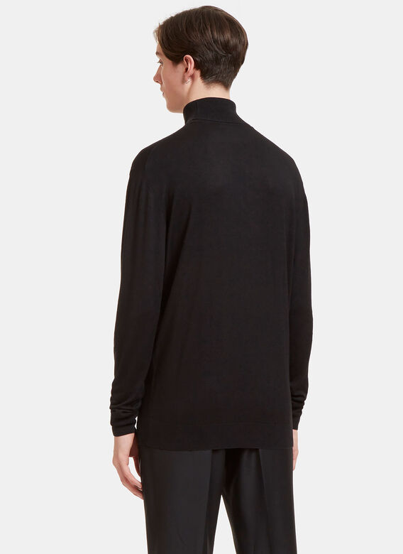 Aiezen AIEZEN Cashmere and Silk Roll Neck 4