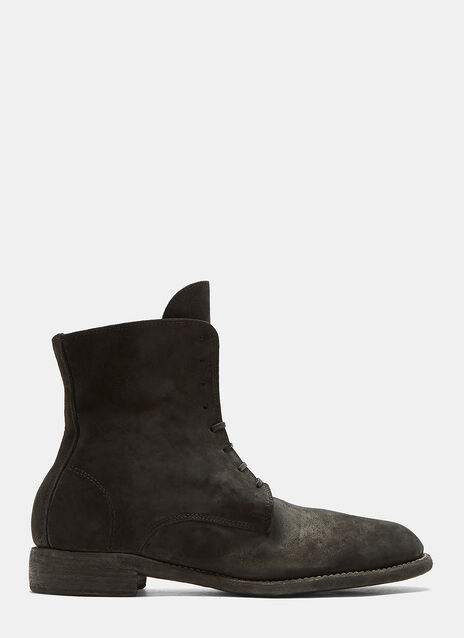 Guidi Suede Lace-Up Leather Ankle Boots